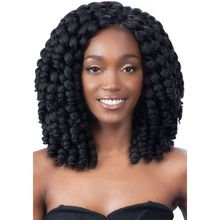 Freetress African Collection Jumpy Wand Curl Twist Jamaican Bounce Twist Braiding Hair Extension Havana Synthetic Crochet Hair