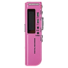 kebidumei Pink 4GB Digital Voice Recorder Voice Activated USB Pen Digital Audio Voice Recorder Mp3 player Dictaphone Black(China)