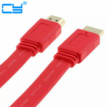 10m High speed flat hdmi cable 2m/200cm 3m/300cm 5m/500cm hdmi 1.4v with 3D&blue ray with up to HD 1080P(China)