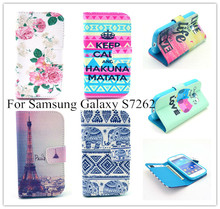 Imagery Printing Leather Case For Samsung Galaxy Star Pro S7262 S7260 7260 7262 Wallet Cell Phone Protector Flip Cover Holster(China)