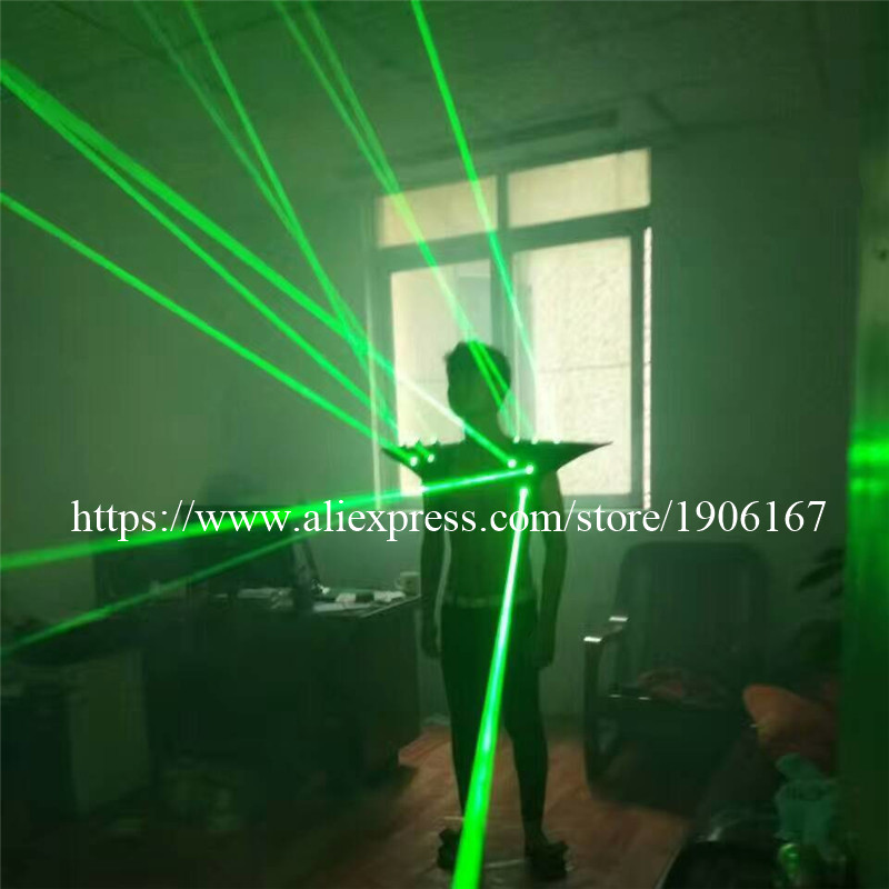 Fashion Red color men Laser vest Costumes cloth suit LED laser bar party props performing luminous clothing dj disco dress show03