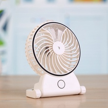 Handheld Humidifier Portable Rechargeable USB Powered Fan Office Electric Mini Fan Air Conditioning Moisturizing For Computer PC