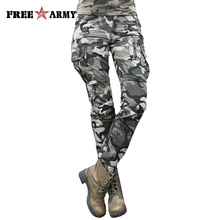 2017 New Arrival Summer Camouflage Pants Women Camouflage Cargo Pants Women Military Fashion Casual Loose Baggy Pants GK-9370B(China)