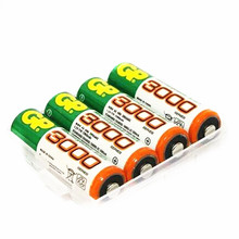 4 PCS/lot Wholesale For GP AA 1.2 V Ni-MH 3000mAh AA Rechargeable batteries' toys(China)