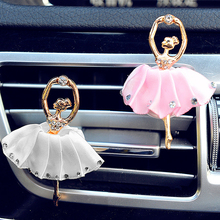 Diamond Ballet Girl Auto Outlet Air Freshener Car Styling Solid Fragrance High Quality Car Air Vent Perfume 4 Colors(China)