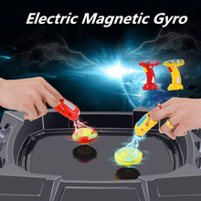 New Magnetic Gyro Spinning Top Set Arena Beyblades Metal Fusion Fight Spins Gyroscopes Fidget Finger Spinner Toys for Children
