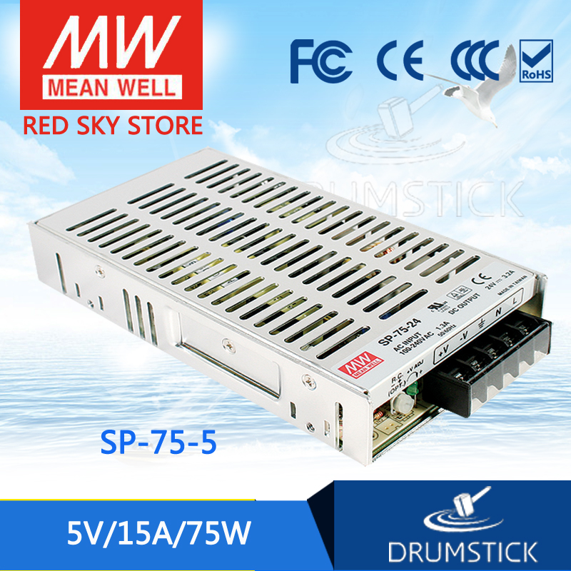 MEAN WELL SP-75-5 5V 15A meanwell SP-75 5V 75W Single Output with PFC Function Power Supply [Real1]<br>