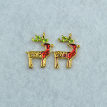 Buy 20pcs charms floating enamel christmas deer pendants jewelry findings components fit Necklaces bracelets making Z42227 for $5.20 in AliExpress store