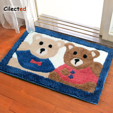Buy Cilected Flocking Cute Cartoon Carpet Living Room Bedroom Floor Mats Toilet Bathroom Anti-Slip Mats Household Entrance Pad 2Size for $16.75 in AliExpress store