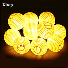Kitop Lantern Solar String Lights 6M 30 ball LED Solar Lamp Outdoor Christmas Holiday Lighting Fairy Globe Decorative Light
