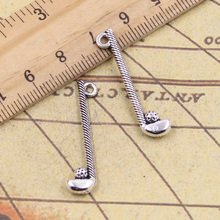 10pcs Charms golf club ball 32*8mm Tibetan Silver Plated Pendants Antique Jewelry Making DIY Handmade Craft