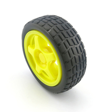 65x26xflat hole 5.3 rubber car wheel/tracking car robot accessories/model wheel/tamiya/hot wheel/toy accessories/technology mode(China)