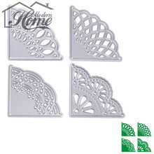 Camber Corner Metal Cutting Dies Stencils Lace Border For Decor Scrapbooking DIY Album Paper Cards snijmal en Embossing Folder