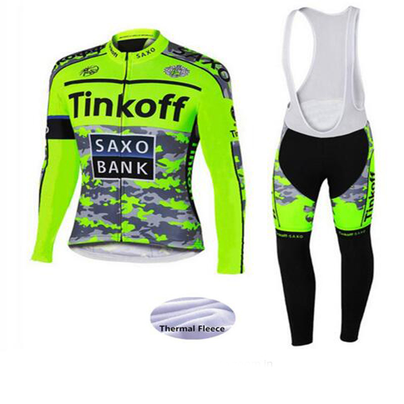 Cycling Jersey Set Bike Wear Winter Thermal Fleece Ropa Ciclismo Sportswear Maillot Bicycle Clothes Jersey Set Pro Team<br>