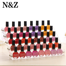 Free shipping Acrylic transparent 5 layer Nail polish display shelf nail salon exhibition of cosmetic jewelry shelf Jewelry box()