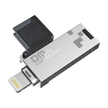 DM CR008 Lightning Micro SD/TF OTG Card Reader USB 3,0 мини Картридер для iPhone 6/7 /8 Plus iPod iPad OTG картридер(China)