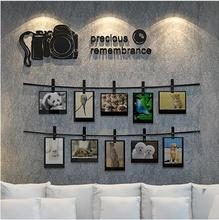 2017 New Arrival SLR camera memories 3D wall stickers Photo wall living room sofa decorated bedroom Acrylic stickers Art Deco(China)