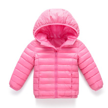2017 Winter New Warm Boys Girls Thin Down Cotton Coat Baby Kids Spring Autumn Down Jacket Children 2-13Y Outwear Clothes(China)