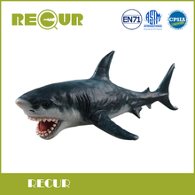 Recur Toys Great White Shark Hand Painted Soft PVC Marine Animal Collection Model Action & Toys Figures For Kid Early Education
