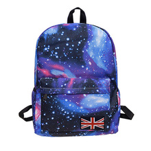 2016 Hot Women Universe Stars Printing Backpack Space Galaxy Graffiti Rucksack for Teenage Girls School Bags