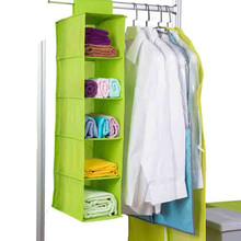 Capacity Pocket Storage Hanging Bag Wardrobe Finishing Pouch Home Essential Nonwoven Storage Bag 5 Layer Large Capacity