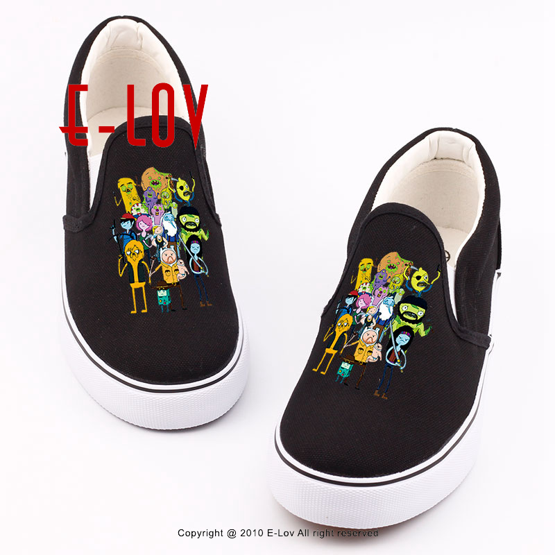 Brand Quality The Walking Dead Canvas Shoes Printed Women Casual Flat Shoes DIY Couples and Lovers Valentine Gifts Graffiti Shoe<br>