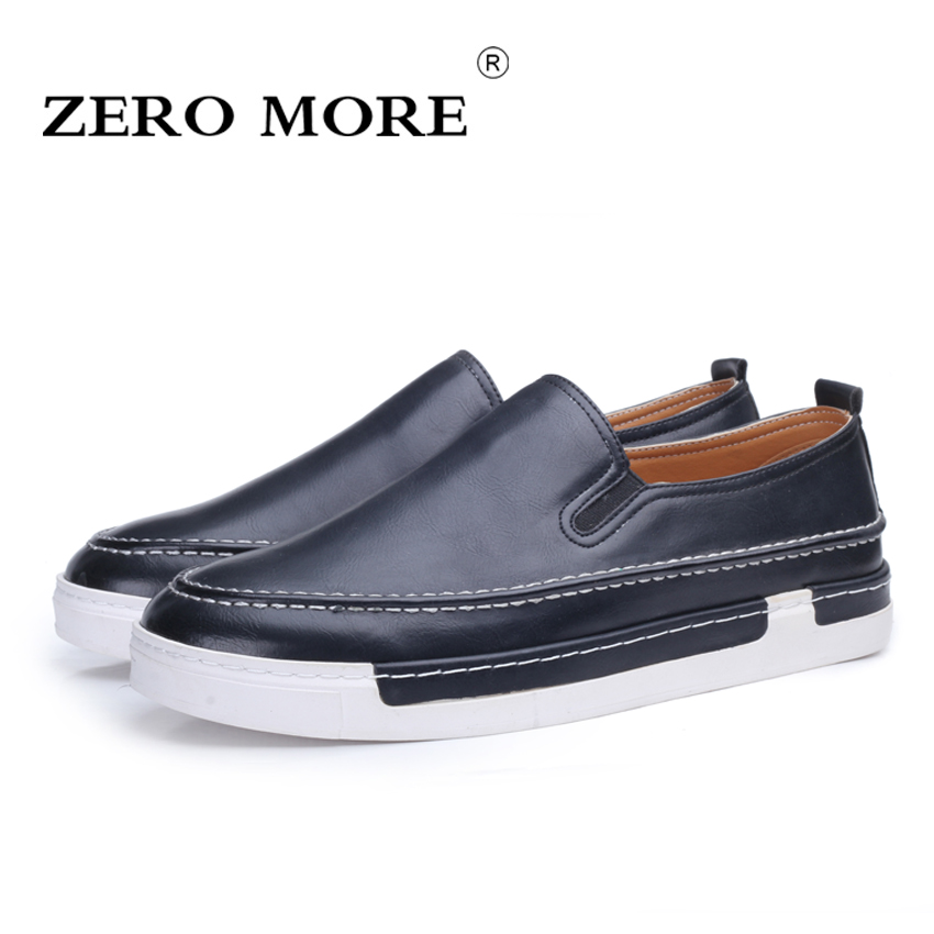 ZERO MORE 2017 New Fashion Designer Mens Shoes Luxury Brand Split Leather Slip On Round Toe Formal Men Loafers Business Shoes<br>