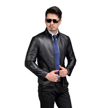 AIBIANOCEL 100% Sheepskin Mens Genuine Leather Jacket Fashion Spring Men Leather Jacket Real Leather Jacket Black Brown 58509(China)