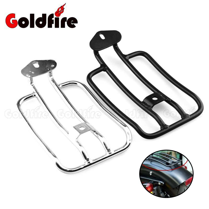 New Motorcycle Plated Luggage Rack Solo Seat  For Harley Davidson Sportster 883N 1200 XL 2004-2014 2013 2012 2010 2009 2008 2007<br>