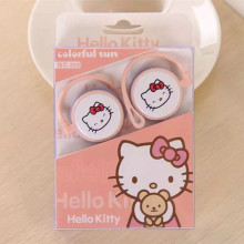 Cartoon Hello Kitty Doraemon 3.5mm Stereo Ear Hook Sport Earphone Kawaii Cat Earbuds For iPhone Samsung MP3 mobile phone(China)