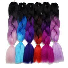 Silky Strands Ombre Kanekalon Jumbo Synthetic Braiding Hair Crochet Blonde Hair Extensions Jumbo Braids Hairstyles