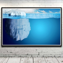 Seascape Sea Iceberg Clouds Landscape Art Silk Poster Home Decor Pictures 12x19 15x24 19x30 22x35 Inches Unframed Free Shipping