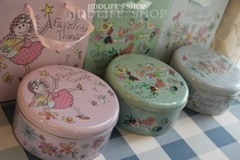 Wholesale/retail,free shipping, Tinplate biscuit tin / nougat candy box with Matching paper bag(China)