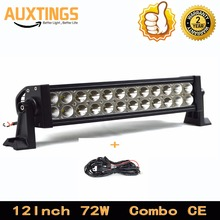 "DISCOUNT!!!FREE SHIPPING 12 volt led light bar 12""INCH 72W watt COMBO IP67 offroad led light bar super bright led work light bar"
