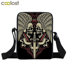 Cool Tattoo Skull Mini Messenger Bag Women Handbag Punk Shoulder Bag Children School Bags Kids Travel Gift Bags