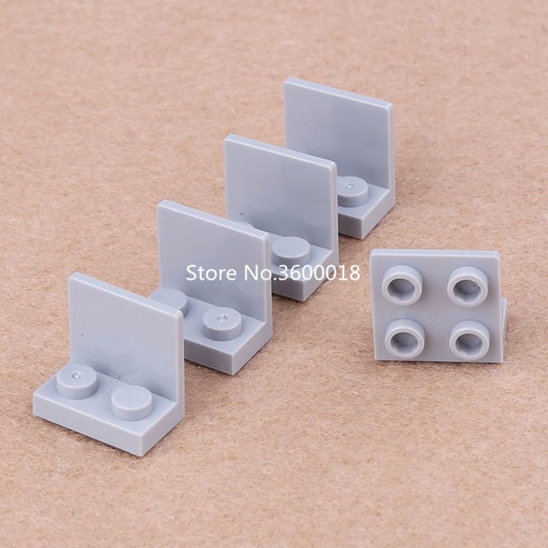 LEGO New Lot Of 12 Black Bracket 1x2-2x2 Angle Plate Inverted Bricks