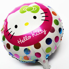 Hello Kitty mylar balloons 10pcs/lot classic toy kt Foil ballon helium foil baloons kids birthday party supplies baby shower