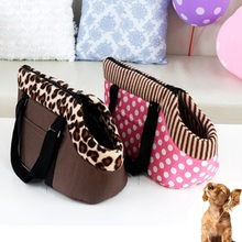Dog Carrier Leopard Dots Printed Bag Carrier Cat Dog Carrying Bag Tote Portable Travel Bag Handbag Pet Supplies(China)