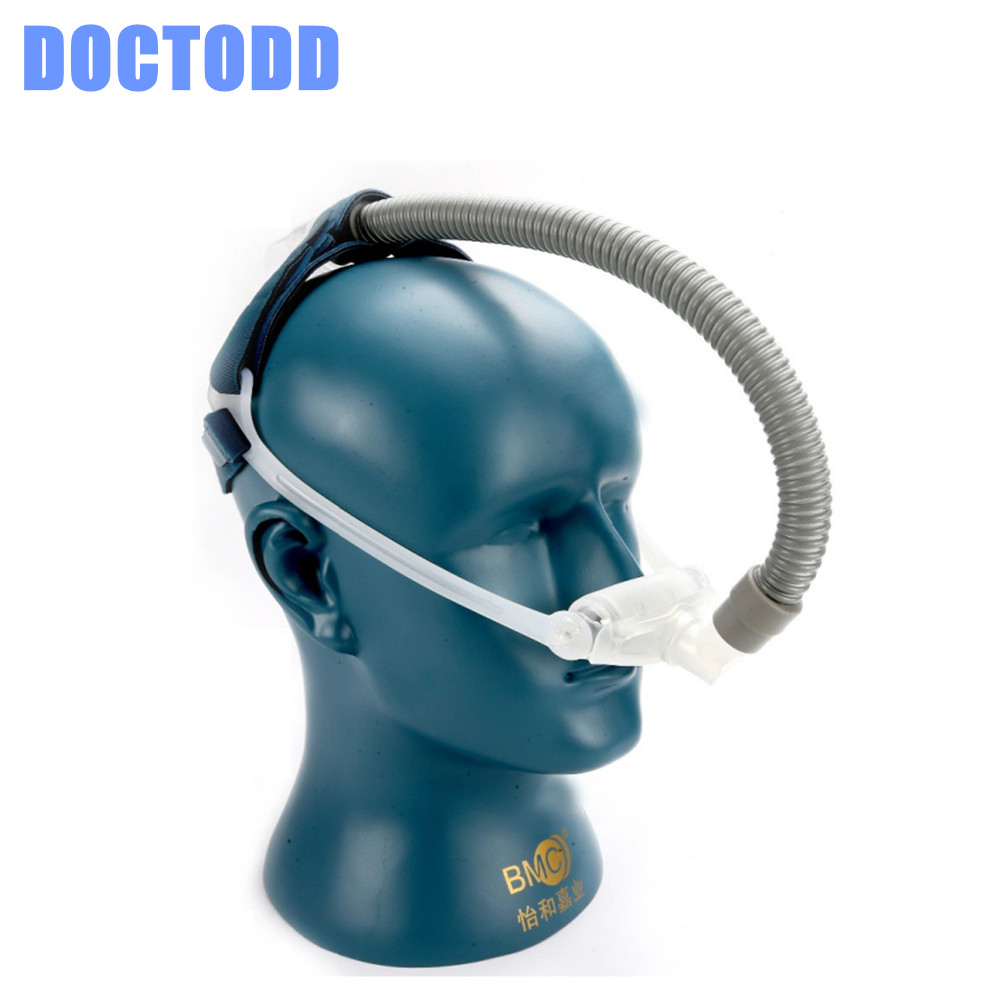 DOCTODD WNP Medical Nasal Pillow CPAP Mask Silicone Gel SML Size Cushions All In Sleep Mask For Snoring Apnea Treatment W/ belt<br>