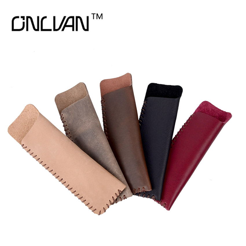Vintage Genuine Leather Pencil Bag For Travel Diary Pen Case Cowhide Pencil Cover for Leather Notebook Free Logo(China (Mainland))