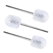 3pcs Stainless Steel WC Bathroom Cleaning Toilet Brush Head Holder Toilet Brush Head Holders Cleaner Chrome
