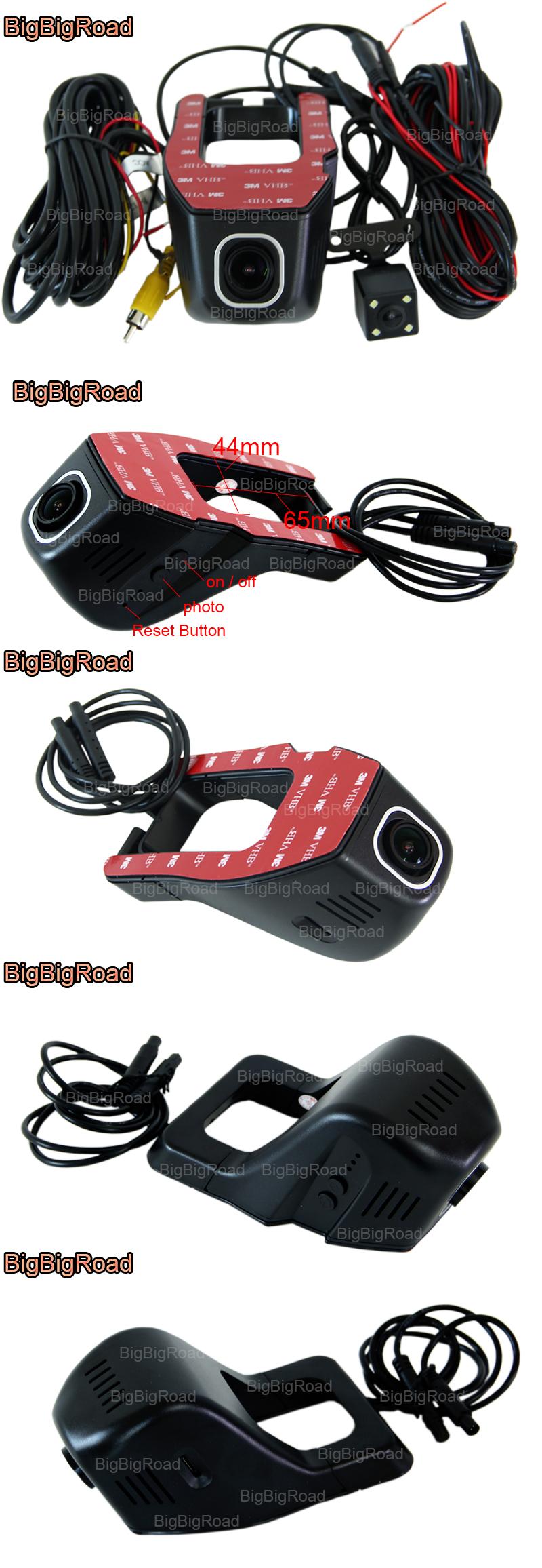 BigBigRoad Car Wifi DVR For honda accord CR-Z GREIZ CRV CR-V Jade odyssey elysion Dual Camera Video Recorder Dash Cam Black Box (11)