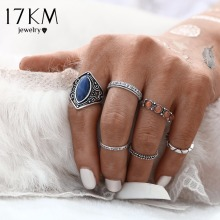 Buy 17KM 2016 New Fashion 6pcs/Set Midi Ring Sets Boho Beach Vintage Tibetan Silver Color Rings Women Jewelry Christmas Gift for $1.59 in AliExpress store