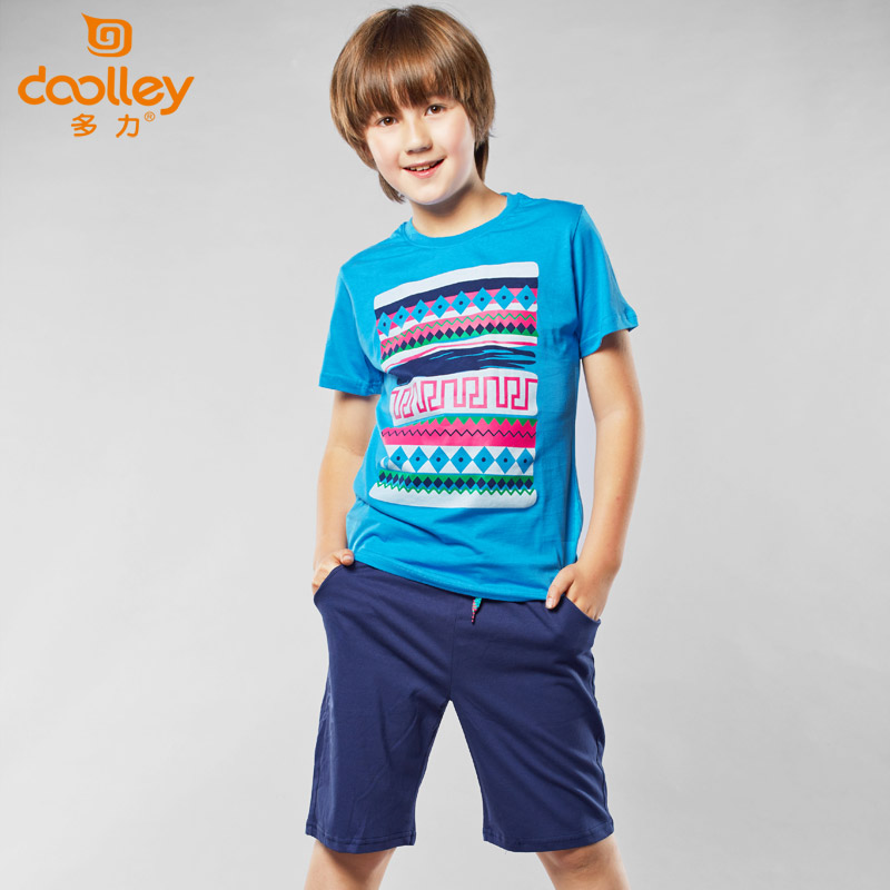 DOOLLEY Children Casual Tracksuit Boy Short Sleeve Clothing Sets Kids Summer Sport Suits T-shirt + Shorts Size 130-170 cm<br><br>Aliexpress
