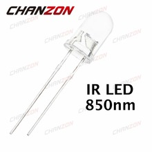 100pcs 5mm IR LED 850nm Clear Lens Infrared Diode 20mA Transparent 5 mm Through Hole Light Emitting Diode 850 nm LED Lamp