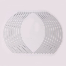 "16 Pieces/Set 17""-19"" White Car Motorcycle Wheel Rim Stripe Tape Reflective Stickers Decal Universal Car Styling Motocross"