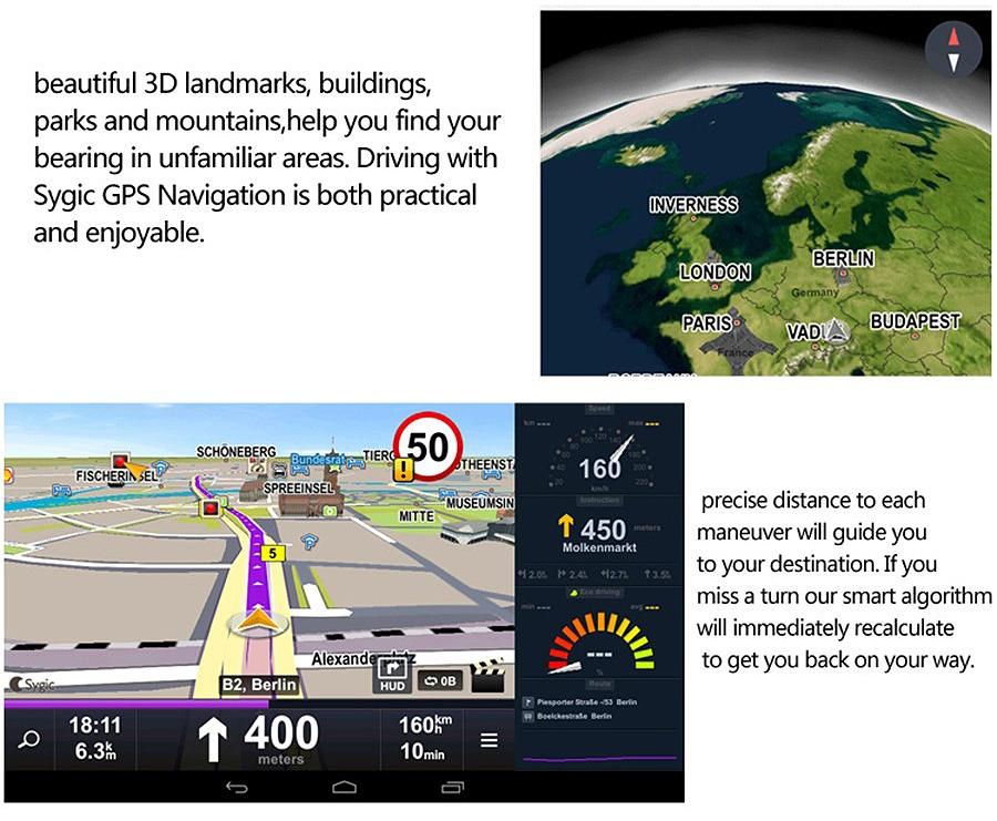 "Junsun 8"" 4G Special Mirror Car DVR Camera Android 5.1 with GPS DVRs Automobile Video Recorder Rearview Mirror Camera Dash Cam 20"