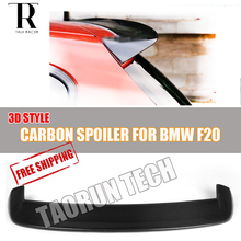 F20 Carbon Fiber Rear Roof Window Spoiler for BMW F20 118i 120i 125i 128i M135i  Auto Racing Car Styling Tail Roof Wing 3D Style