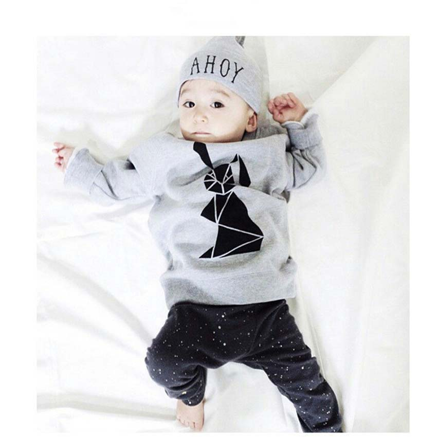 Baby Boy Autumn Clothes Toddler Girls Cotton Tops+Pants 2 Pieces Clothing Set Infant Cartoon Outerwear Sports Suit for Winter<br><br>Aliexpress