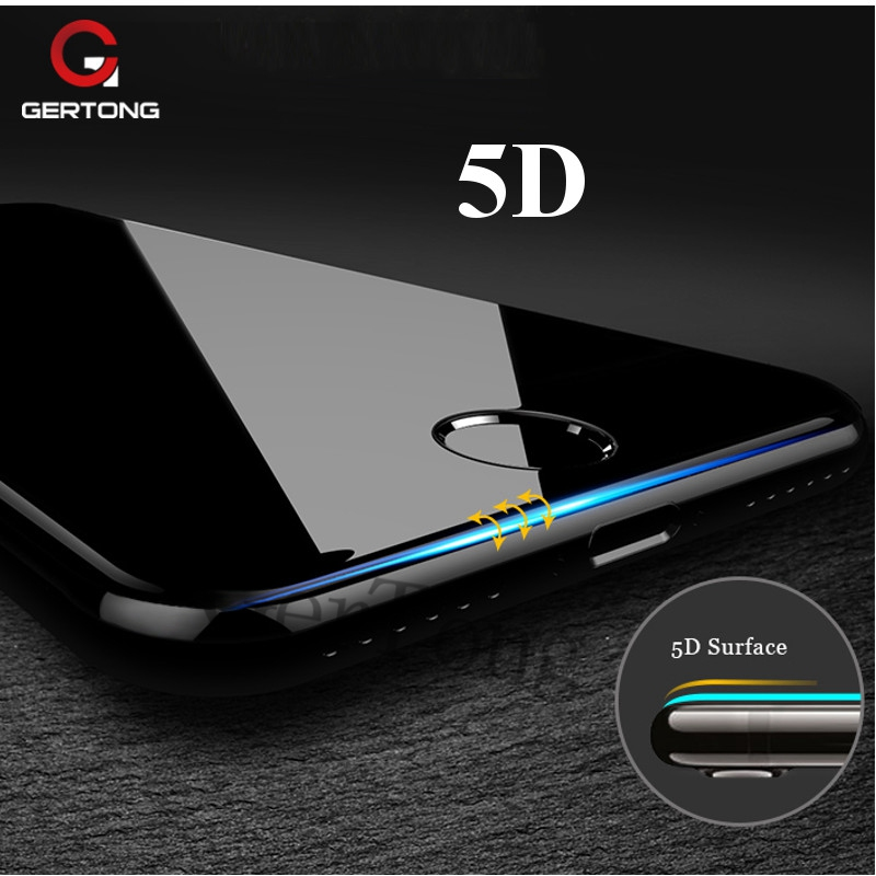 5D Premium Screen Protector Tempered Glass iPhone 7 8 X 6 S 6S Plus Full Cover Protection Film Glass iPhone 7 Curve Edge